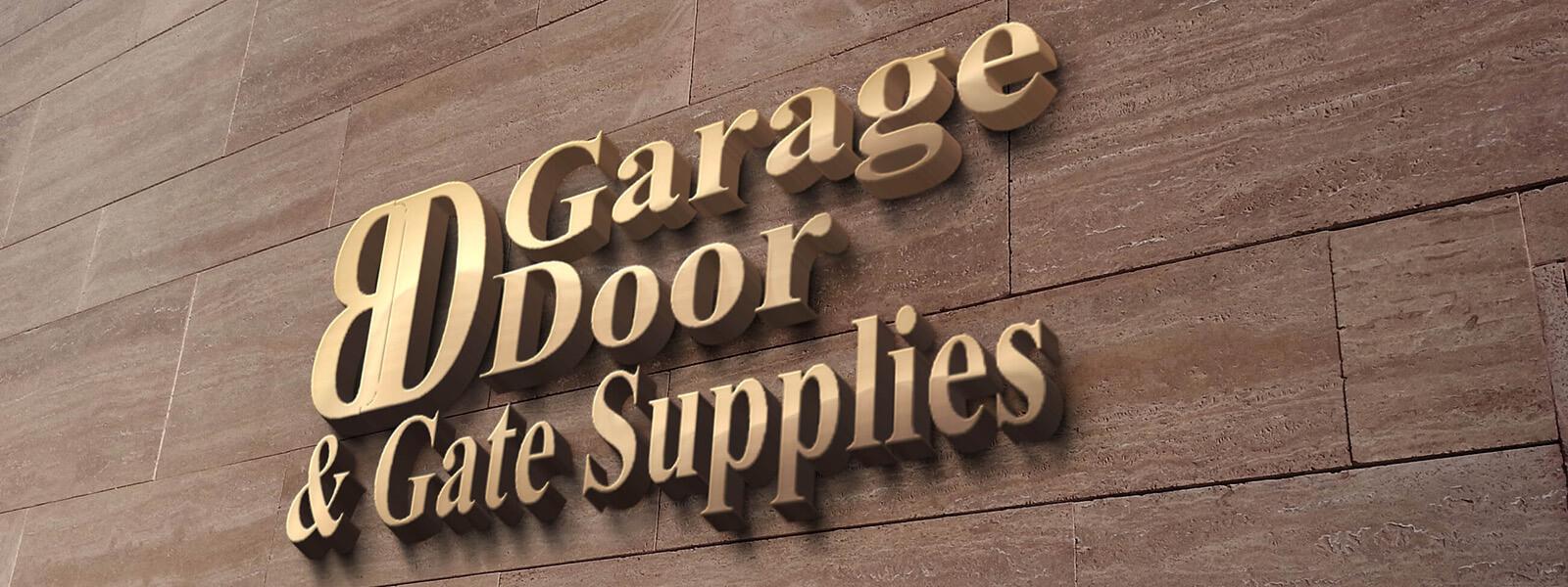 BD Garage Door And Gate Supplies Wall Logo
