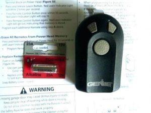replace garage door remote