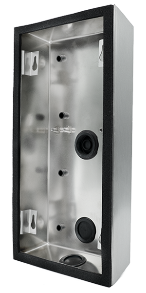 DoorBird D2101V surface-mounting housing (backbox), stainless steel V2A, brushed